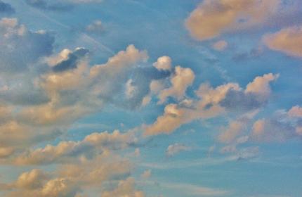 Pastel Angel Cloud Skies by Teri Leigh Teed
